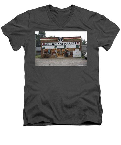 Route 66 - Wrink's Market Men's V-Neck T-Shirt