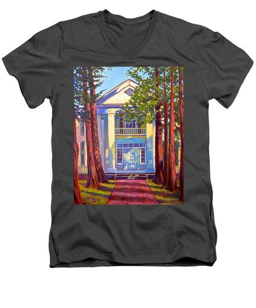 Rowan Oak Men's V-Neck T-Shirt by Jeanette Jarmon