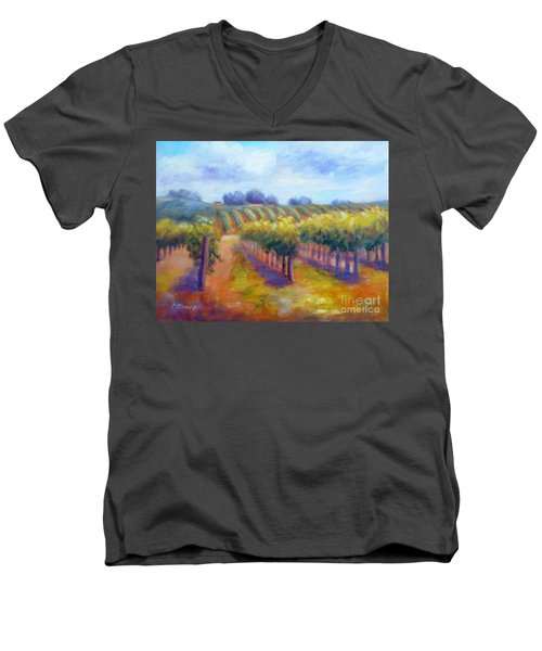 Rows Of Vines Men's V-Neck T-Shirt
