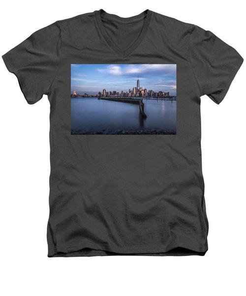 Royal Blue Men's V-Neck T-Shirt