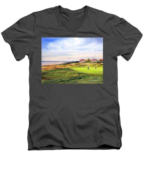 Royal Liverpool Golf Course Hoylake Men's V-Neck T-Shirt