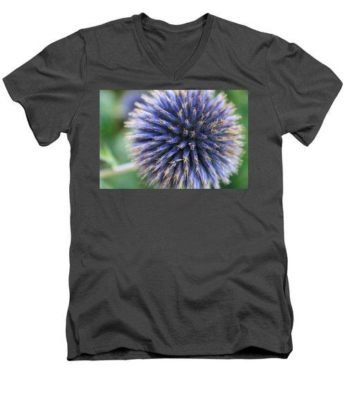 Royal Purple Scottish Thistle Men's V-Neck T-Shirt
