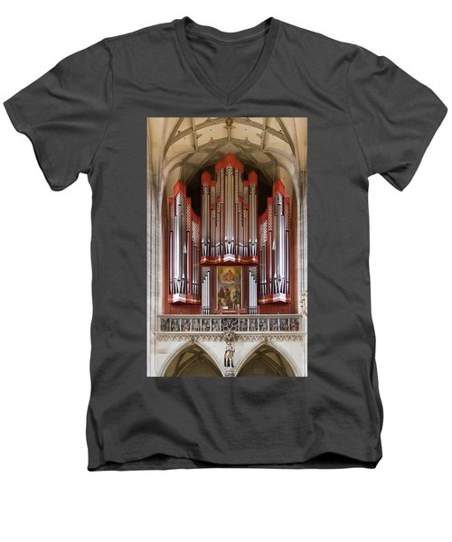 Royal Red King Of Instruments Men's V-Neck T-Shirt