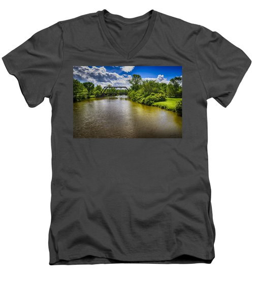 Men's V-Neck T-Shirt featuring the photograph Royal River by Mark Myhaver