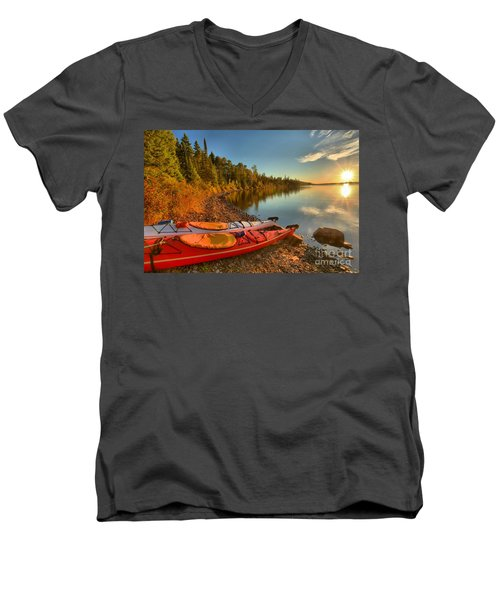 Royale Sunrise Men's V-Neck T-Shirt