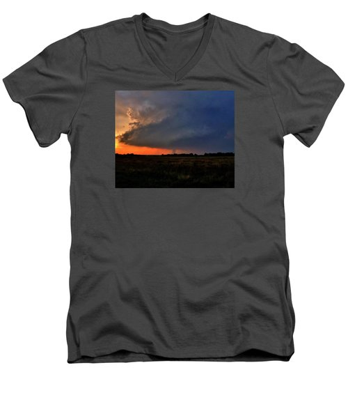 Men's V-Neck T-Shirt featuring the photograph Rozel Tornado by Ed Sweeney