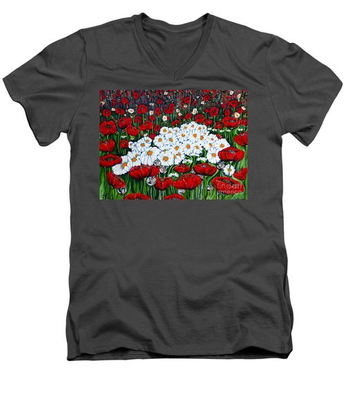 Rubies And Pearls Men's V-Neck T-Shirt