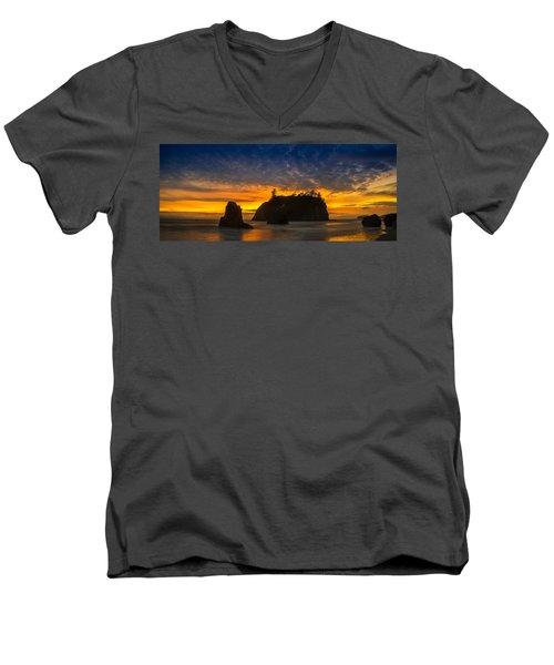 Ruby Beach Olympic National Park Men's V-Neck T-Shirt