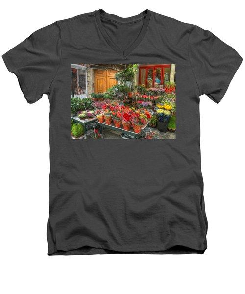 Rue Cler Flower Shop Men's V-Neck T-Shirt