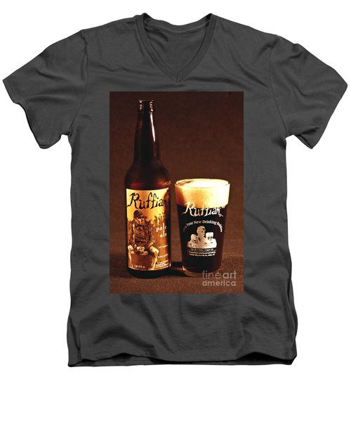 Ruffian Ale Men's V-Neck T-Shirt
