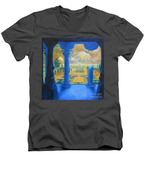 Ruins Of Lankapura Men's V-Neck T-Shirt