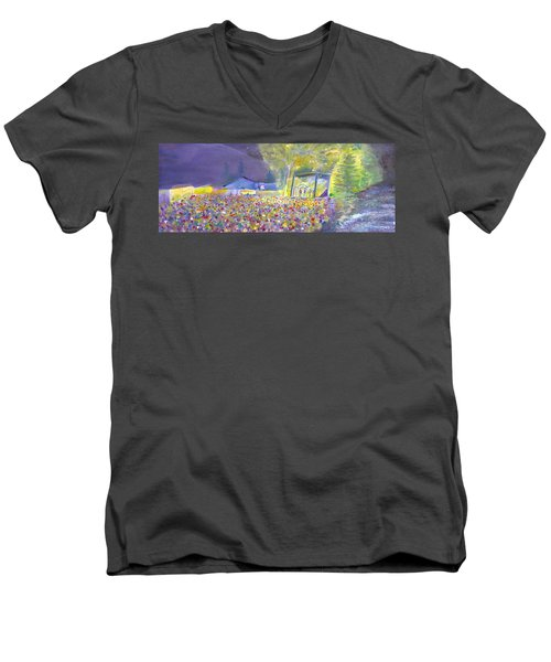 Head For The Hills At The Mish 2011 Men's V-Neck T-Shirt