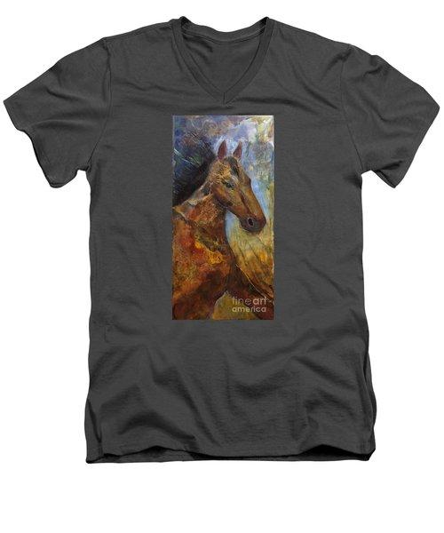 Run Wild Run Free Men's V-Neck T-Shirt