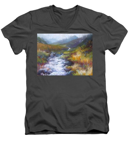 Running Down - Landscape View From Hatcher Pass Men's V-Neck T-Shirt