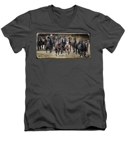 Running Wild Men's V-Neck T-Shirt