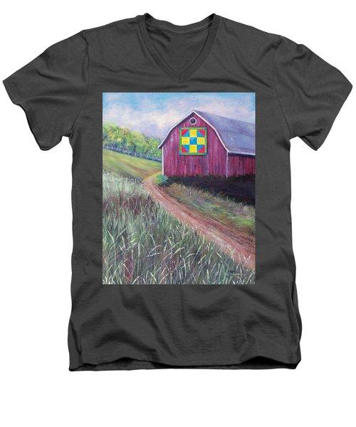 Rural America's Gift Men's V-Neck T-Shirt by Susan DeLain