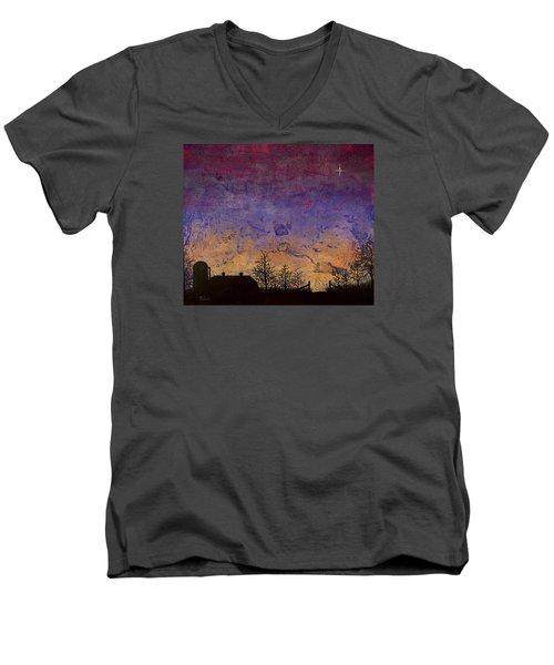 Rural Sunset Men's V-Neck T-Shirt