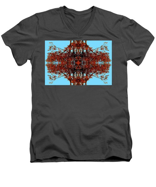 Men's V-Neck T-Shirt featuring the photograph Rust And Sky 3 - Abstract Art Photo by Marianne Dow