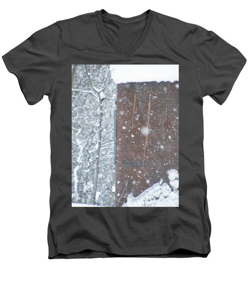 Rust Not Sleeping In The Snow Men's V-Neck T-Shirt