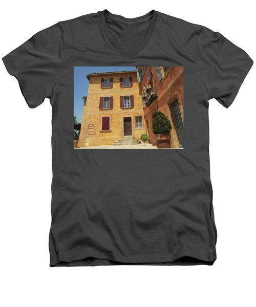 Men's V-Neck T-Shirt featuring the photograph Rustic Charm by Pema Hou