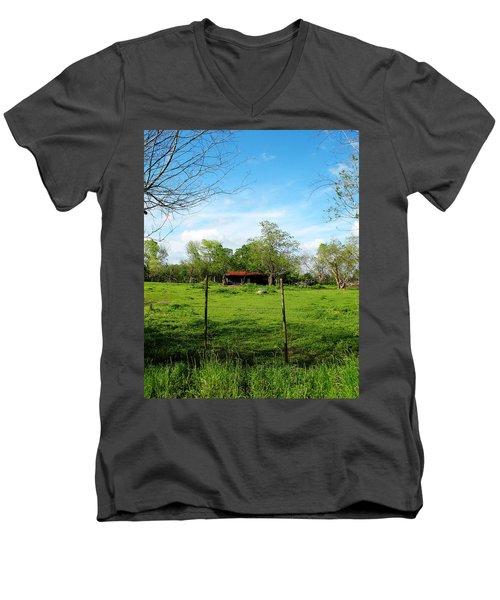 Rustic Land Of Beauty - Rural Texas Men's V-Neck T-Shirt