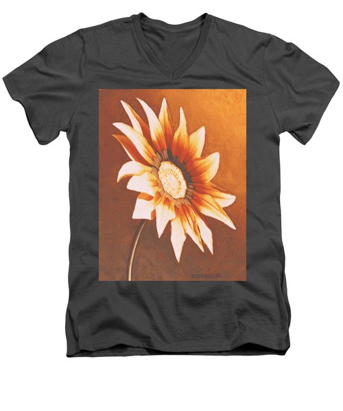 Rusty Gazania Men's V-Neck T-Shirt by Sophia Schmierer