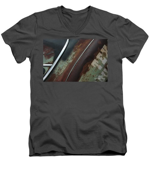 Men's V-Neck T-Shirt featuring the photograph Rusty Rat by Christiane Hellner-OBrien