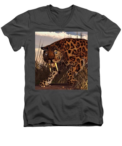 Sabertooth Men's V-Neck T-Shirt