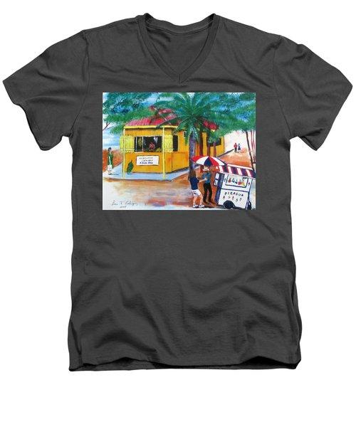 Sabor A Puerto Rico Men's V-Neck T-Shirt by Luis F Rodriguez
