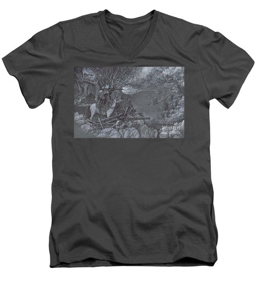 Saddle Sniper Men's V-Neck T-Shirt