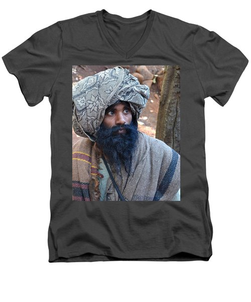 Sadhu At Amarkantak India Men's V-Neck T-Shirt