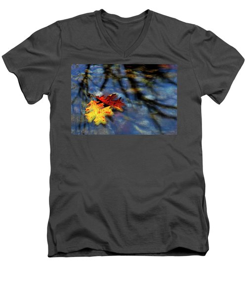 Safe Passage Men's V-Neck T-Shirt by Chuck Mountain