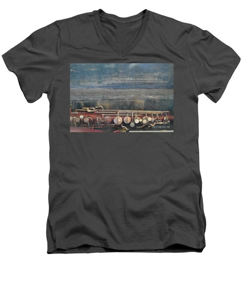 Men's V-Neck T-Shirt featuring the photograph Safe Sax In Vegas by Brian Boyle