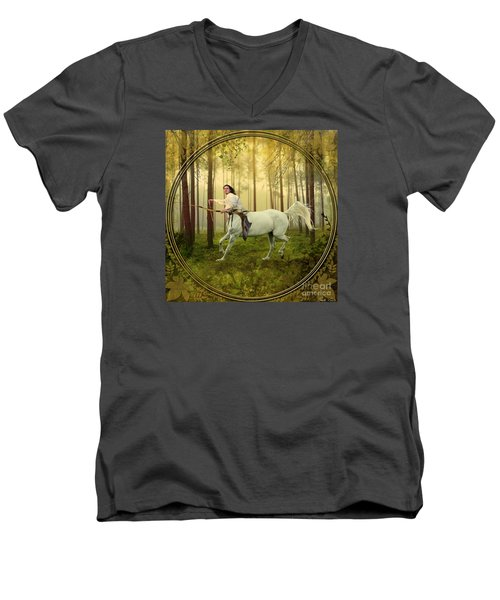 Sagittarius Men's V-Neck T-Shirt by Linda Lees