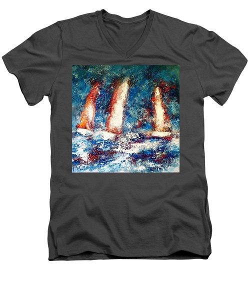 Sail On Men's V-Neck T-Shirt