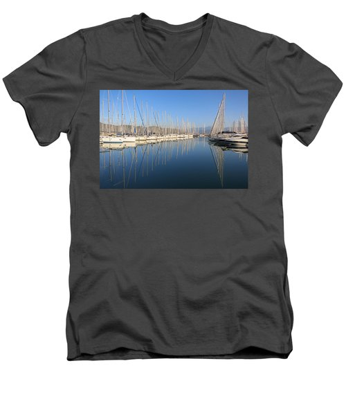 Sailboat Reflections Men's V-Neck T-Shirt