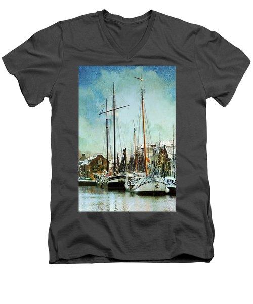 Sailboats Men's V-Neck T-Shirt