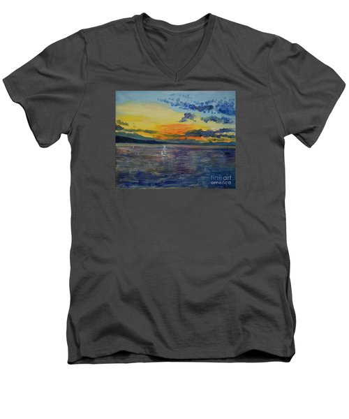Sailboats Near Stockholm Men's V-Neck T-Shirt