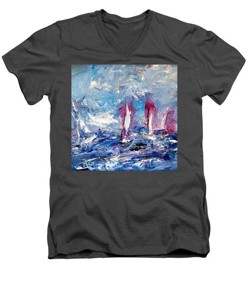 Sailing Magic Men's V-Neck T-Shirt