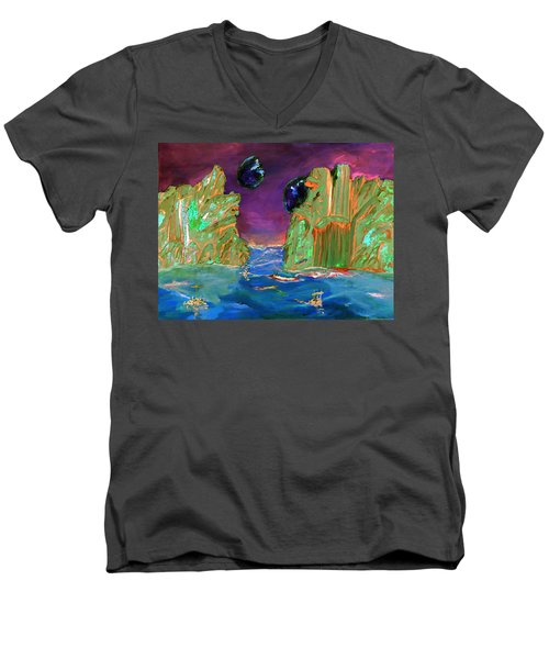 Sailing On Beta Antares 3 Men's V-Neck T-Shirt