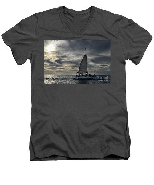 Sailing The Caribbean Men's V-Neck T-Shirt