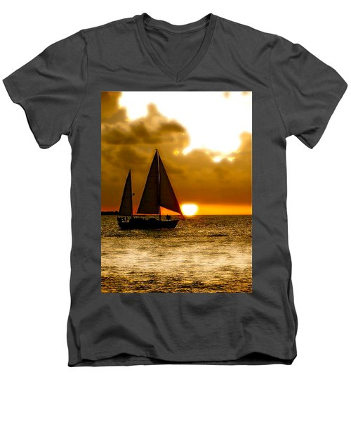 Sailing The Keys Men's V-Neck T-Shirt