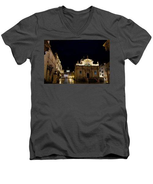 Saint Blaise Church - Dubrovnik Men's V-Neck T-Shirt