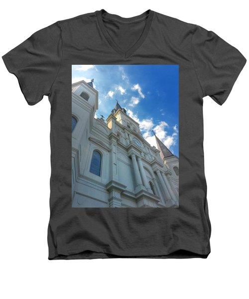 Saint Louis Cathedral  Men's V-Neck T-Shirt