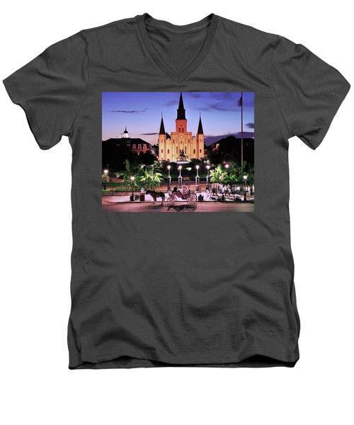 Saint Louis Cathedral New Orleans Men's V-Neck T-Shirt