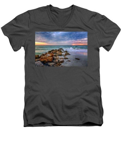 Saint Pete Beach Stormy Sunset Men's V-Neck T-Shirt