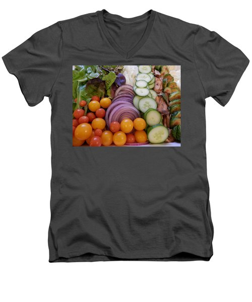 Salad Men's V-Neck T-Shirt by Pema Hou