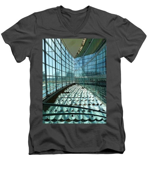 Men's V-Neck T-Shirt featuring the photograph Salt Lake City Library by Ely Arsha