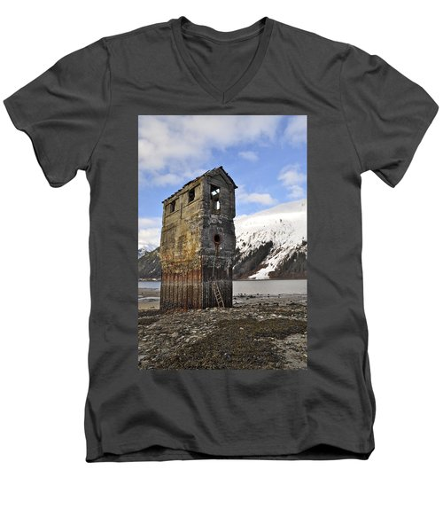 Saltwater Pump House Men's V-Neck T-Shirt by Cathy Mahnke