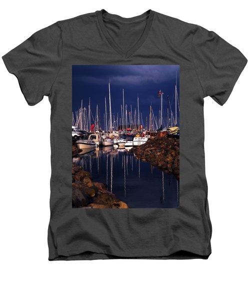 Samsoe Island Denmark Men's V-Neck T-Shirt